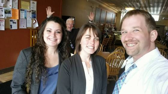 Samantha, Jodi, and Ben, during their interview session with NewsNet5.  Photobomb courtesy of WEWS Multimedia Journalist Brian Archer.
